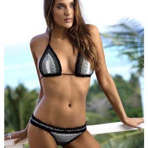 NWT! PILYQ Stardust Crochet Bikini
